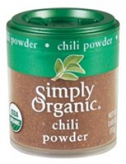 Simply Organic Chili Powder Certified Organic, 0.60-Ounce Containers (Pack of 6)
