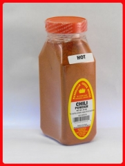 CHILI POWDER HOT FRESHLY PACKED IN LARGE JARS, spices, herbs, seasonings