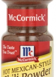 McCormick Hot Mexican-Style Chili Powder 2.5 Ounce (Pack of 6)