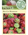 Seed Savers Exchange 1396 Open-pollinated Pepper Seed, Red Cap Mushroom, 25 Seed Packet