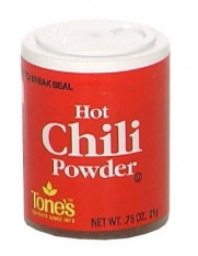 Tone's Hot Chili Powder, .75-Ounce Containers (Pack of 6)